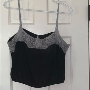 Free People NWOT lace trimmed tank
